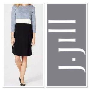 J. JILL WOMENS STRIPED COLOR BLOCK DRESS  Sz M